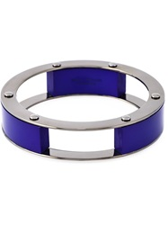 Erika Cavallini Semi Couture Multi Blocks Bracelet Blue