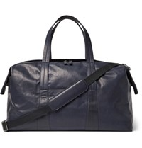 Maison Martin Margiela Leather Holdall Navy