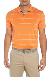 Bobby Jones Rule 23 Alliance Stripe Tech Polo Orange