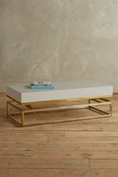 Anthropologie Lacquered Rectangular Coffee Table Gull