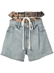 Haculla Double Hac Denim Shorts Blue