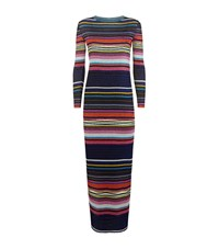 Missoni Stripe Knit Tube Maxi Dress Female Blue