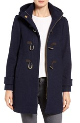 Vince Camuto Women's Boiled Wool Blend Duffle Coat Navy