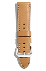 Women's Shinola 20Mm Latigo Leather Watch Strap Natural Leather