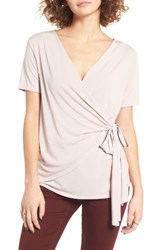 Women's Bp. Wrap Tee Pink Silver