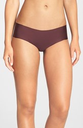 Women's Halogen 'No Show' Cheeky Hipster Briefs Burgundy Stem