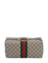 Gucci Gg Supreme Ophidia Toiletry Bag Beige