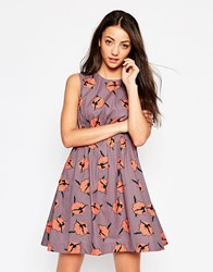 Emily And Fin Emily And Fin Lucy Dress In Ballerina Print Beige