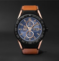 Kingsman Tag Heuer Connected Modular 45Mm Ceramic And Leather Smartwatch Tan