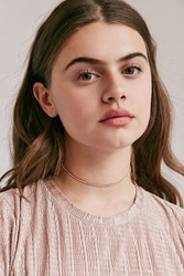 Urban Outfitters Cami Delicate Rhinestone Choker Necklace Gold