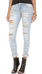 Blank Distressed Straight Leg Jeans Dreamathon