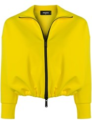 Dsquared2 Cropped Sports Jacket Yellow