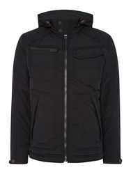 Duck And Cover Mast Padded Hooded Nylon Jacket Black