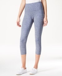 Styleandco. Style And Co. Tummy Control Cropped Leggings Only At Macy's Blue Combo