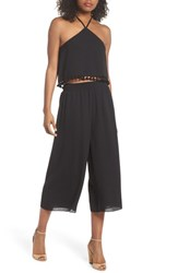 Ali And Jay Two Piece Crop Jumpsuit Black