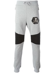 Philipp Plein Gold Card Track Pants Grey