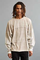 Urban Outfitters Uo Shredder Long Sleeve Tee Light Brown