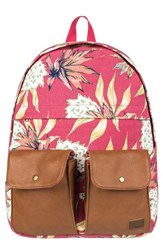 Roxy Stop And Share Backpack Pink Holly Berry House Of The Sun