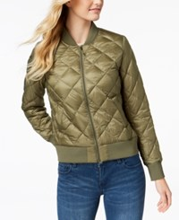 32 Degrees Packable Down Bomber Coat Olive Grey