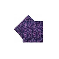 Duchamp Duplic Floral Pocket Square Navy
