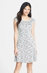 Women's Maggy London Flounce Hem Jacquard Sheath
