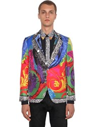 Versace Printed Silk Jacket Multicolor