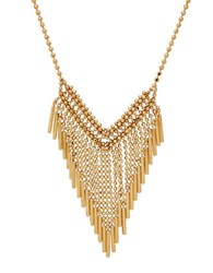 Lord And Taylor 14K Italian Gold Mesh Necklace Yellow Gold