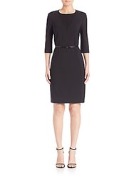 Hugo Boss Blurred Focus Solid Sheath Dress Black