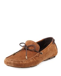 Kenneth Cole Suede Slip On Drivers Rust