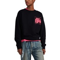 Off White C O Virgil Abloh Skeleton Print Cotton Sweatshirt Black