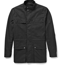 Hunter Waxed Cotton Utility Jacket Black