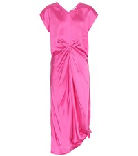 Helmut Lang Satin Dress Pink