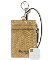 Kenneth Cole Reaction Lanyard Wallet With Tracker Antique Snake
