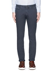 Altea Cotton Canvas Slim Fit Pants Blue