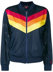 Perfect Moment Chevron Bomber Jacket Blue