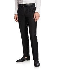 Santorelli 130S Wool Twill Dress Pants Black