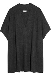 Vince Oversized Wool And Cashmere Blend Sweater Charcoal