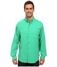 Columbia Tamiami Ii L S Dark Lime Men's Long Sleeve Button Up Green