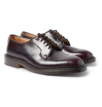 Tricker's Bobby Cordovan Leather Derby Shoes Merlot