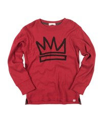 Appaman King Crown Graphic Cotton Jersey Top Red