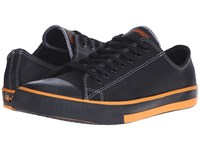 Harley Davidson Roarke Black Orange Lace Up Casual Shoes