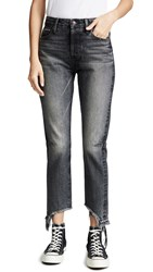 Tortoise Dory High Rise Tapered Crop Jeans Black Fade