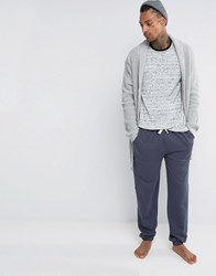 Asos Loungewear Slim Jogger With Narrow Waistband And Cuffs Ebony Blue