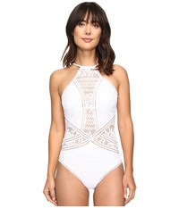 Becca Prairie Rose One Piece White Women's Swimsuits One Piece