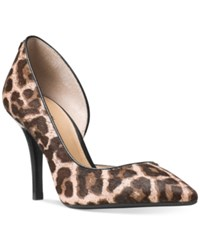 Michael Kors Nathalie Flex D'orsay Pumps Women's Shoes Cheetah Haircalf