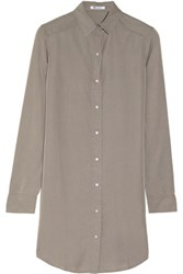 Alexander Wang T By Chambray Shirt Dress
