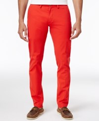 Ben Sherman Men's Slim Fit Stretch Chinos Only At Macy's Washed Red