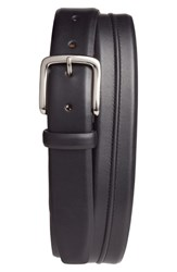 Cole Haan Pinched Seam Leather Belt Black