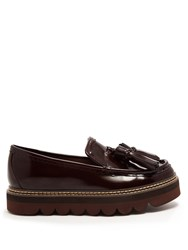 See By Chloe Tassel Platform Leather Loafers Brown