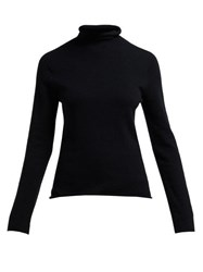 Joseph Seamless Merino Wool Sweater Black